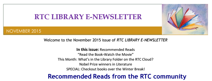 library monthly nov