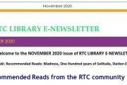 RTC LIBRARY E-NEWSLETTER