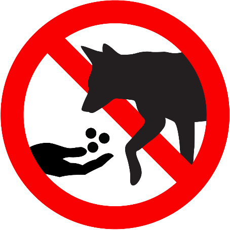 Dog feed sign